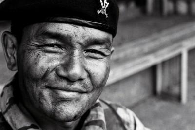 Captain Nim Pun, Queen's Gurkha Signals