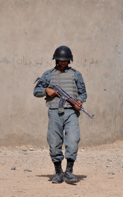 Afghan National Police academy graduate