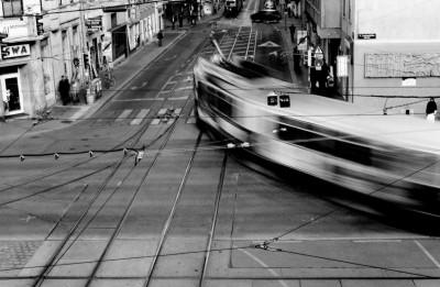 Old tram, Vienna, Austria