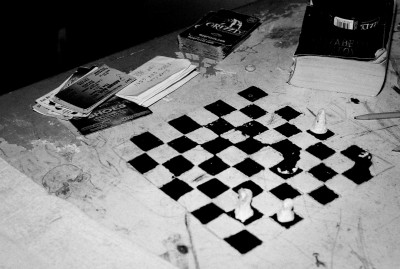 Chessboard made of toilet paper at a Missouri jail, US